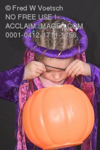 Clip Art Stock Photo of a Little Girl in a Princess Costume