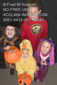 Stock Photo: Children Trick Or Treating