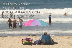 Stock Photo: People At the Beach