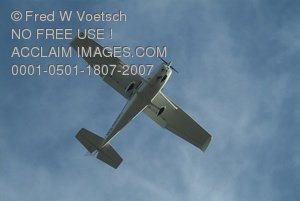 Clip Art Stock Photo of an Airplane in Flight