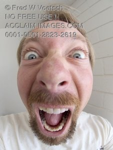 Crazy Man Picture - Clip Art Stock Photo