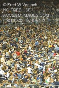 Clip Art Stock Photo of Fans at a Sporting Event