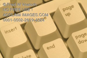 Home Key of a Computer Keyboard Clip Art Stock Photo