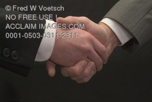 Clip Art Stock Photo of Two Men Shaking Hands