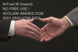 Clip Art Stock Photo of Two Hands About to Shake