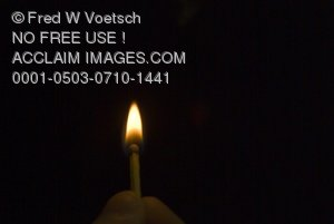 Lit Match in the Darkness Clip Art Stock Photo
