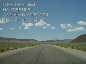 Clip Art Stock Photo of an Empty Highway