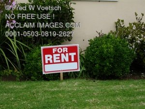 House For Rent Sign - Clip Art Stock Photo
