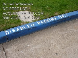 Disabled Parking Clip Art Stock Photo