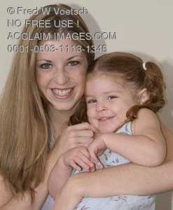 Stock Image of a Happy Mother and Daughter