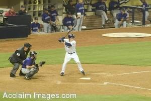 Stock Photo of a Baseball Player at the Plate