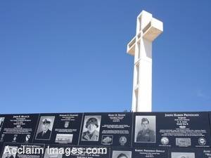Picture of the Armed Services Memorial at Mt. Soledad in San Diego