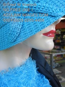 Well Dressed Mannequin in Store Window Clip Art Stock Photo
