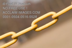 Chain Links Clip Art Stock Photo