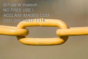 Links in a Chain Clip Art Stock Photo