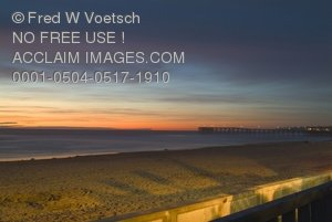 San Diego, Pacific Beach Sunset Stock Photograph