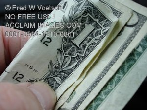 Clip Art Stock Photo of a Hand Holding Money