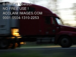 Speeding Truck Stock Photograph