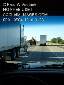 Clip Art Stock Photo of Cars and Trucks in Traffic
