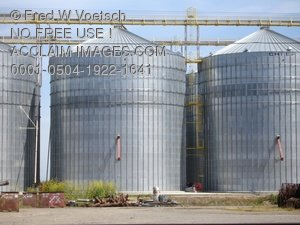 Agriculture Photography: Silo Clip Art Stock Photo