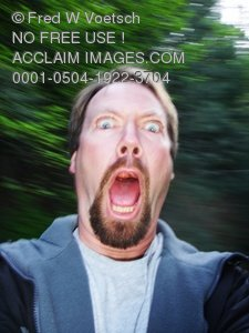 Scared Man Clip Art Stock Photo