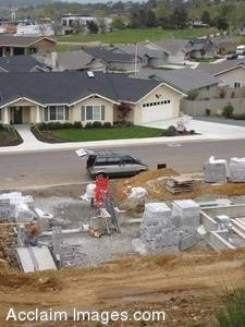 Stock Photo of a Housing Construction Site