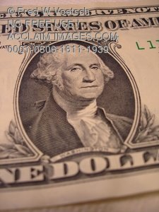 Clip Art Stock Photo of George Washington On a One Dollar Bill