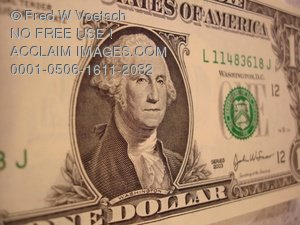 Clip Art Stock Photo of One Dollar Bill