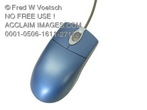 Clip Art Stock Photo of a Computer Mouse Photo Object