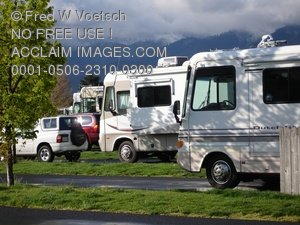 Clip Art Stock Photo of RV