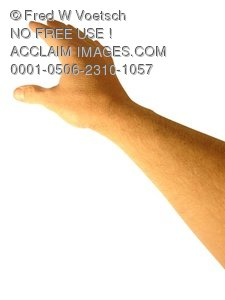 Clip Art Stock Photo of Hand and Arm Reaching - Photo Object