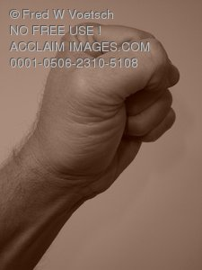 Clip Art Stock Photo of a Mans Fist