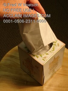 Clip Art Stock Photo of Hand Pulling Tissue From Box