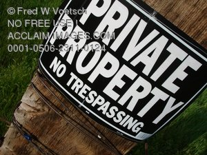 Clip Art Stock Photo of a Private Property No Trespassing Sign