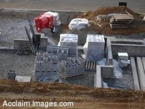 Stock Photo of a New Home Being Build