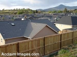 Stock Photo of Residential House Roof Tops