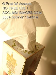 Clip Art Stock Photo of a Box of Tissues