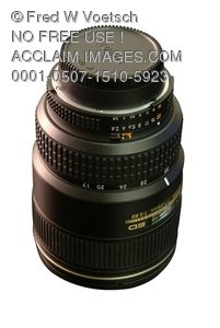 Stock Photo Clip Art of a 35mm Camera Lens - Photo Object