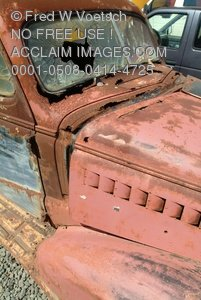Stock Image: Rusty Old Car
