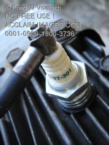 Clip Art Stock Photo of a Spark Plug