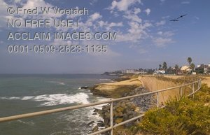 Clip Art Stock Photo of Sunset Cliffs Ocean View