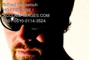 Clip Art Stock Photo of a Man in Sunglasses
