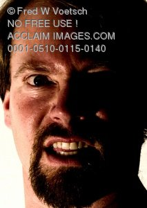 Clip Art Stock Photo of an Angry Man