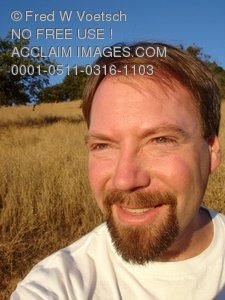 Clip Art Stock Photo of a Happy, Smiling Man