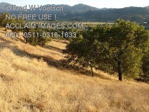 Clip Art Stock Photo of The Rogue Valley in Southern Oregon