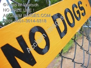 """Clip Art Stock Photo of a Sign Reading """"No Dogs"""""""