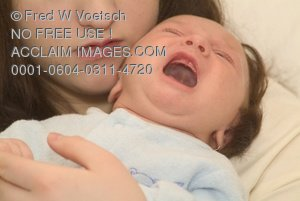 Stock Photo of a Baby Crying