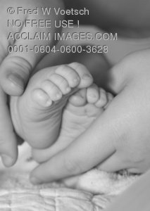 Clipart Stock Photo of a Newborn Baby