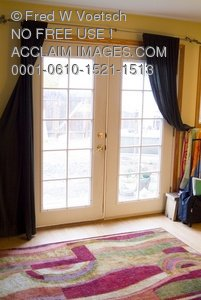 Clip Art Stock Photo of French Doors Closed