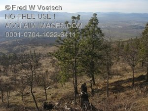 Clip Art Stock Photo Looking Out Over the Rogue Valley in Southern Oregon